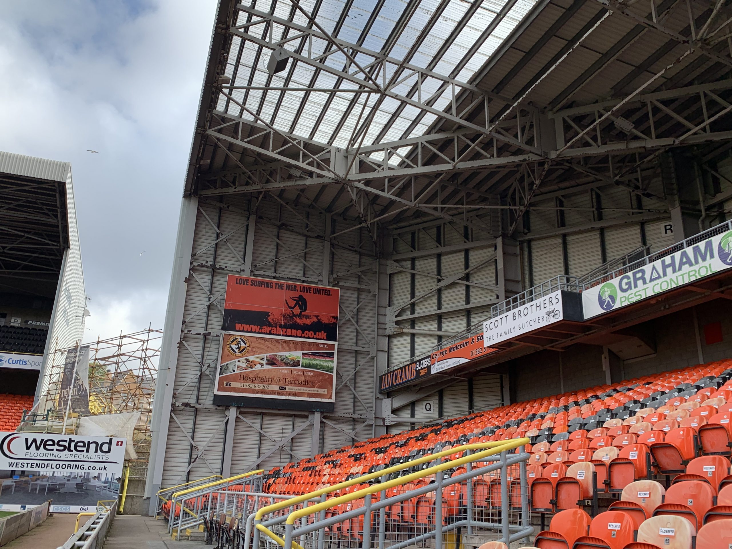 Signs at Tannadice park