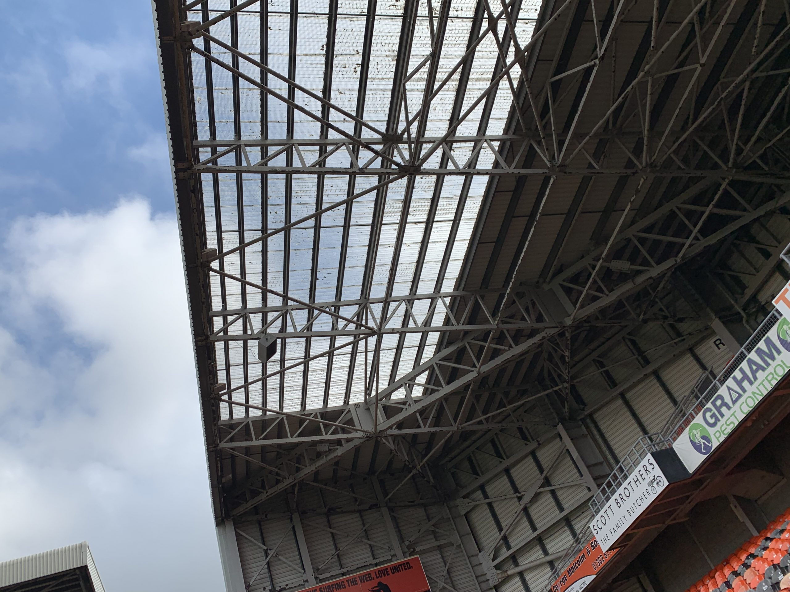 Roofwork at Tannadice park
