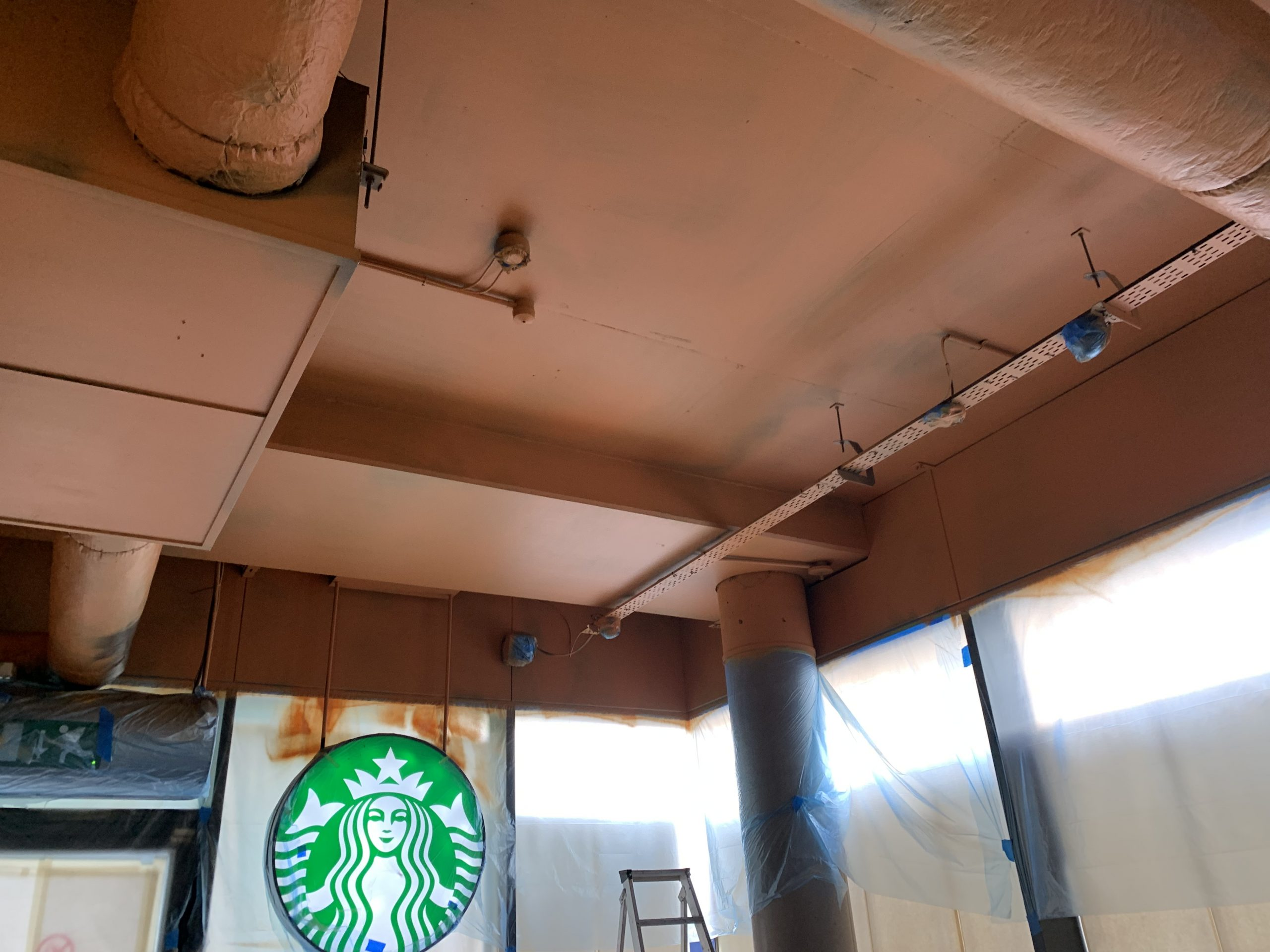 Different angle of Starbucks roof