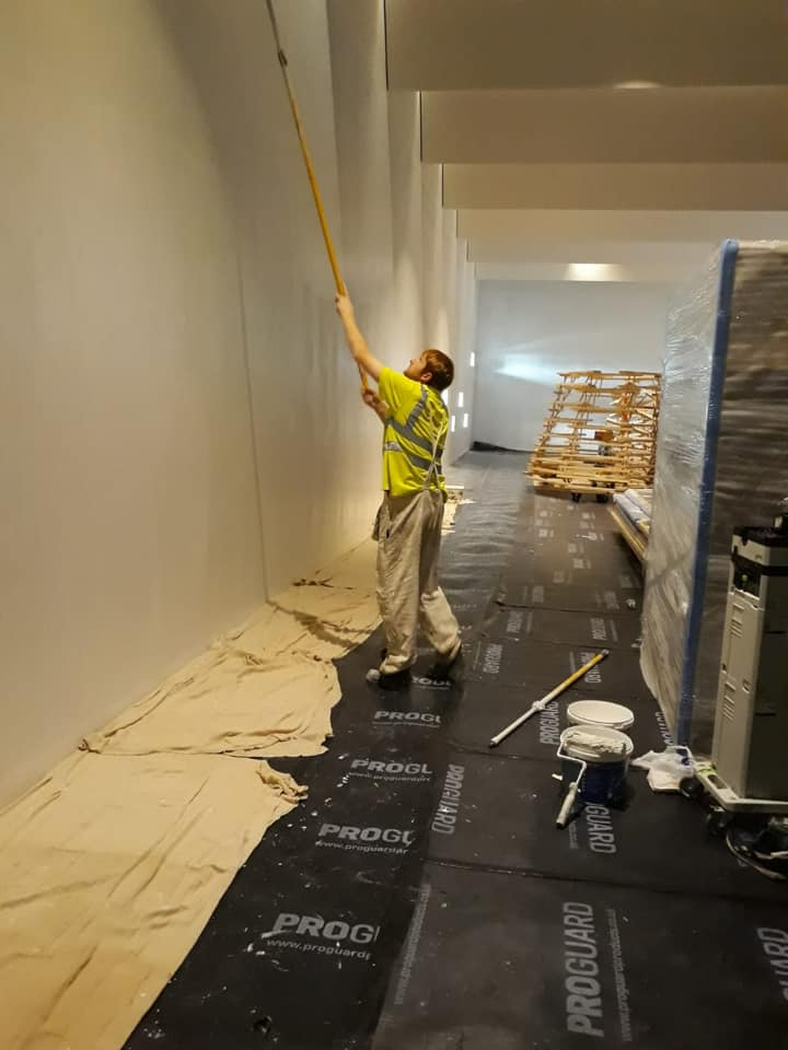 Commercial work being done